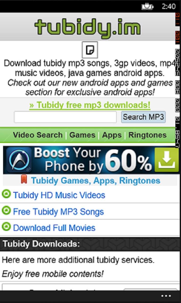 Tubidy For WP | FREE Windows Phone app market