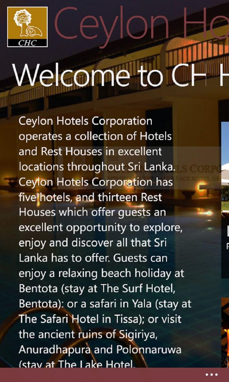Ceylon Hotel Corporation Rest Houses