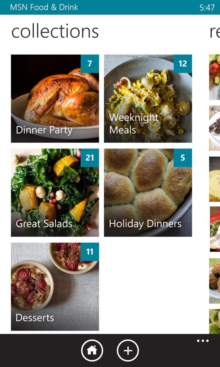 msn food drink free windows phone app market