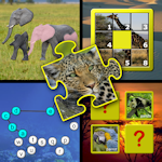 Kids animal puzzle and memory skill games - teaches young children the letters of the alphabet counting and jigsaw shapes suitable for preschool kindergarten and up