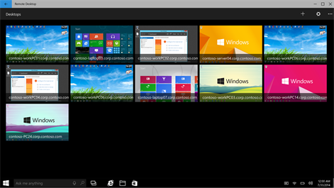 Microsoft Remote Desktop Preview Screenshot