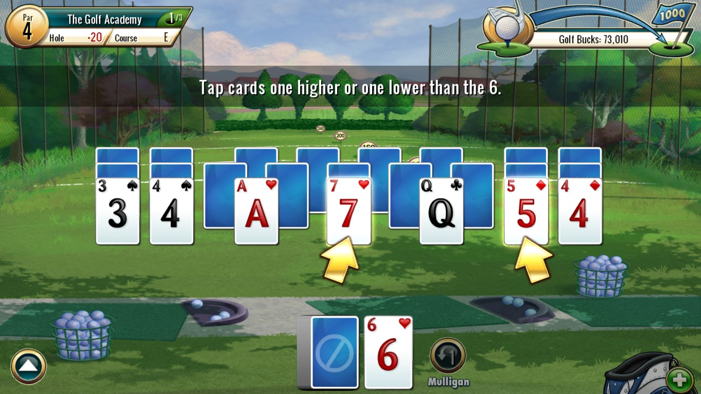 Fairway solitaire by big fish for windows 10 for Big fish golf