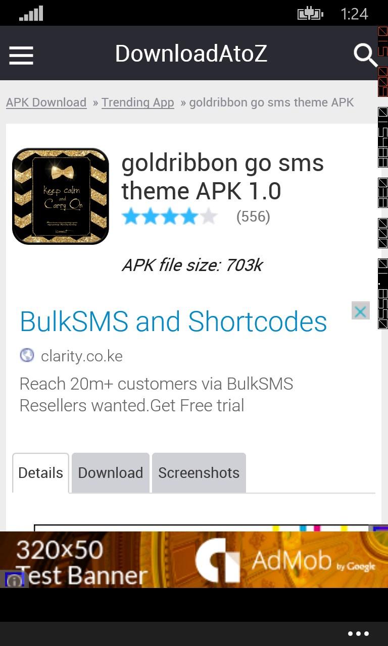 goldribbon go sms theme | free windows phone app market