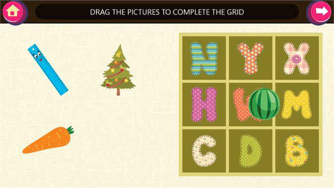 complete the word rhyming objects letter grid