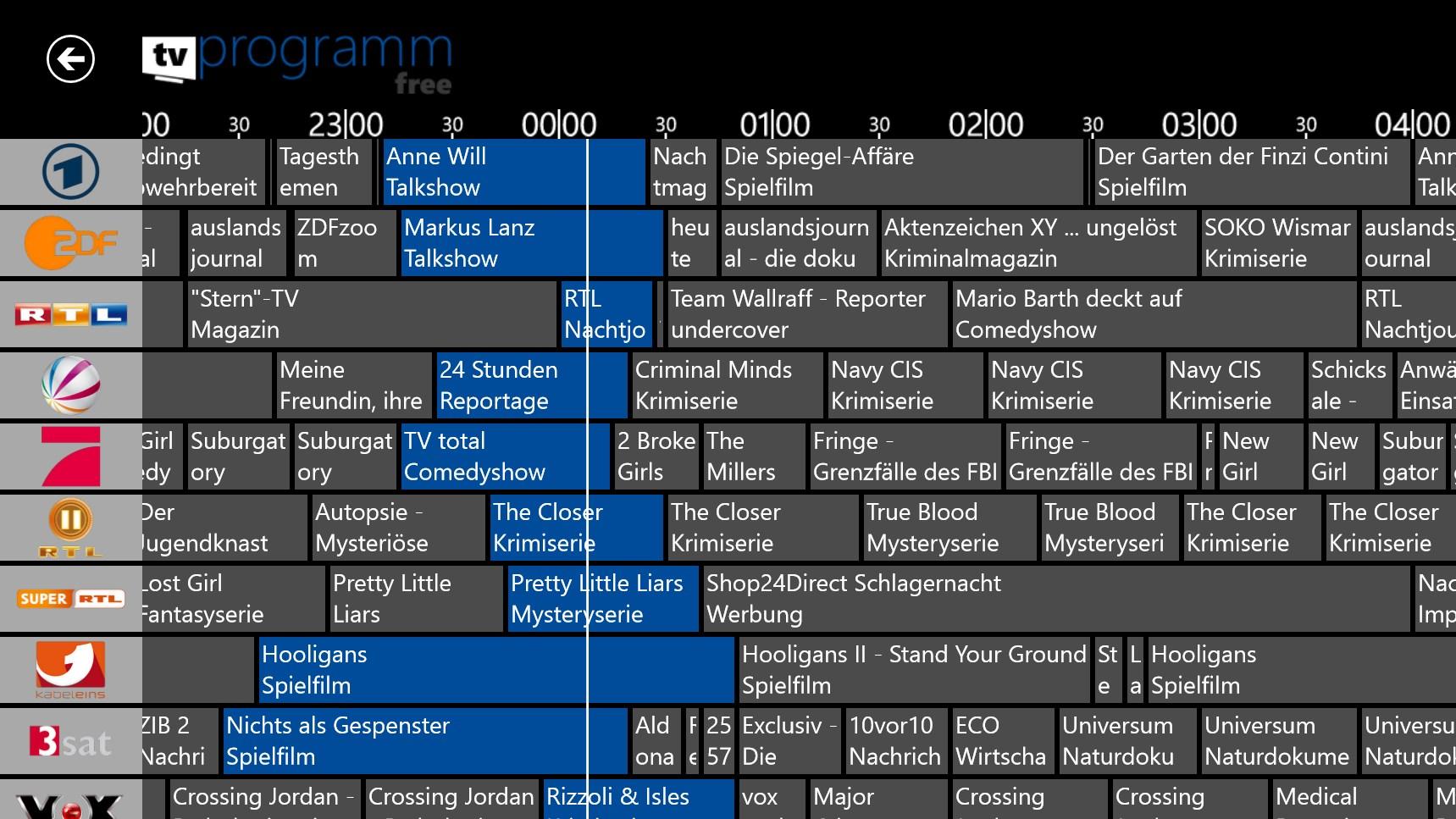 free tv programm