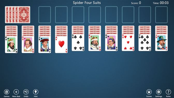 free spider solitaire 2012 v3 0
