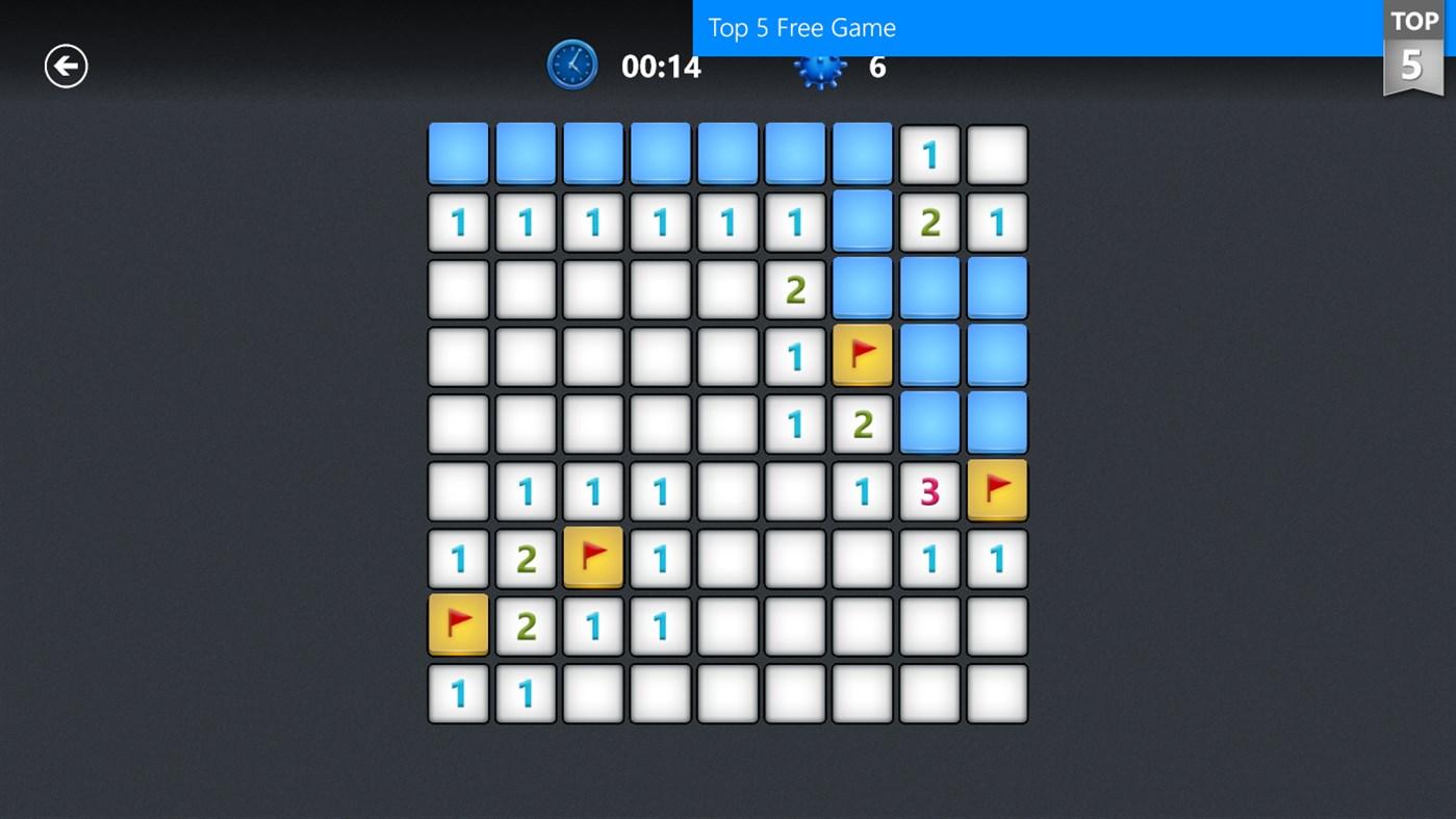 Full Microsoft Minesweeper for Win8 UI screenshot