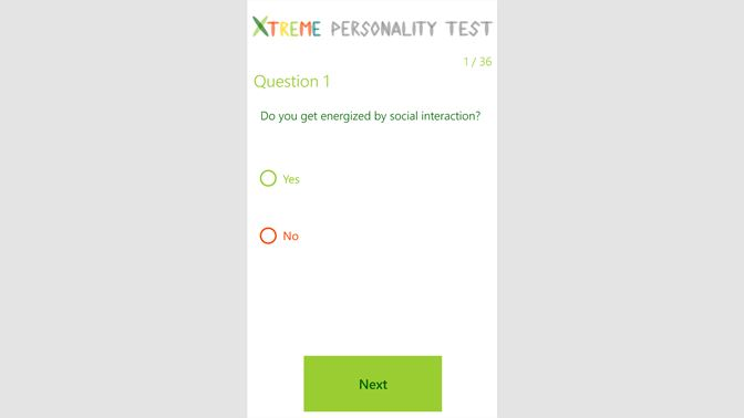 Get Xtreme Personality Test Microsoft Store