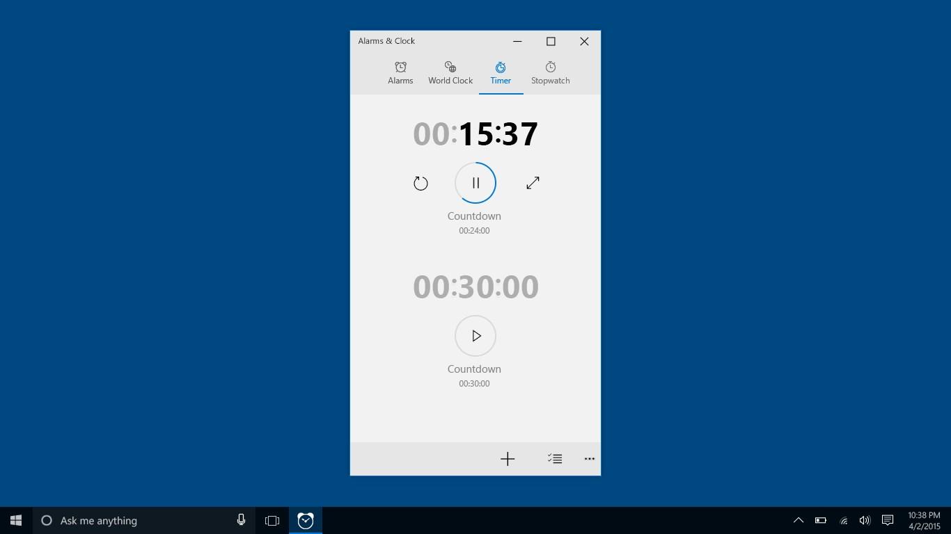 Windows Alarms & Clock