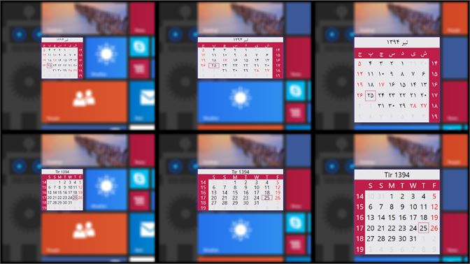 calendar windows 10 gadget