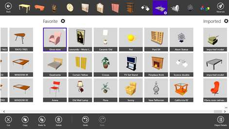 Screenshot Use 1200 Objects And 1500 Materials Supplied With The Program
