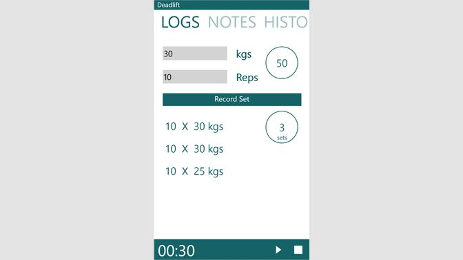 Get Fitness Log - Microsoft Store
