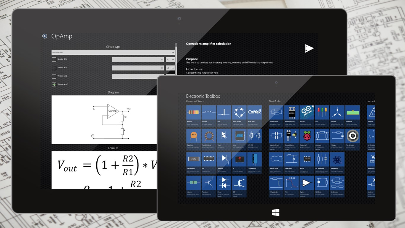 Electronic Toolbox For Windows 10 Circuit App Features