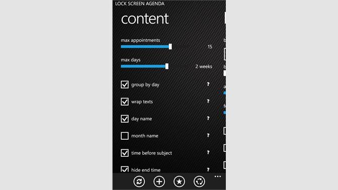 Buy Lock Screen Agenda - Microsoft Store