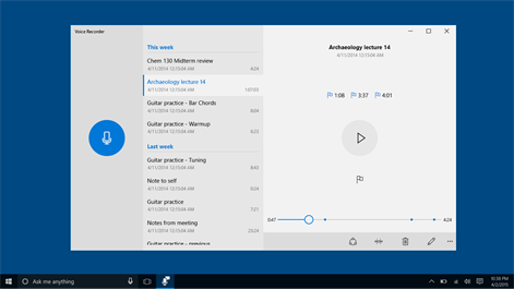 Get windows voice recorder microsoft store for Window recorder