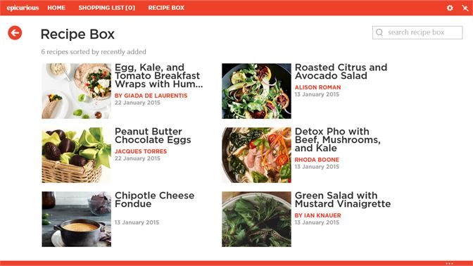 Get epicurious microsoft store screenshot recipe box forumfinder Images