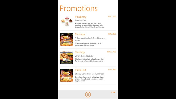The Middle-East's largest food delivery app comes to Windows Phone 4