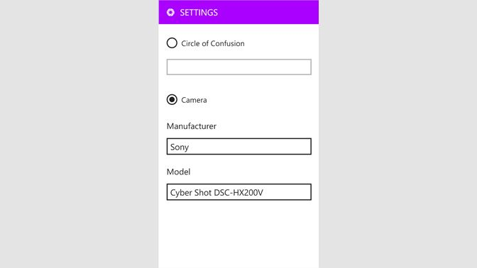 Get DoF Calculator™ - Microsoft Store