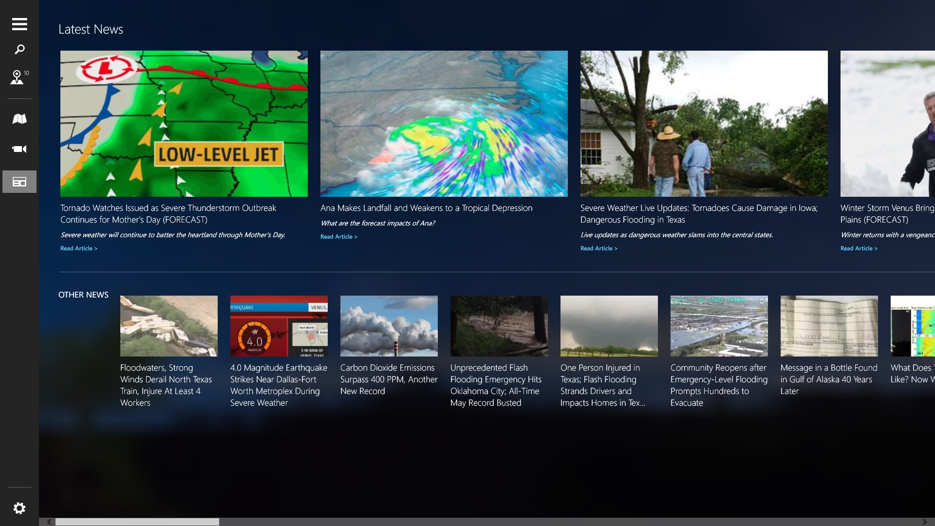The Weather Channel for HP for Windows 10