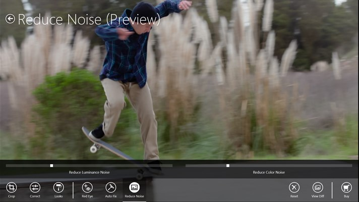 Use slider controls to Reduce Noise and for fine control over corrections like contrast, exposure, and white balance.