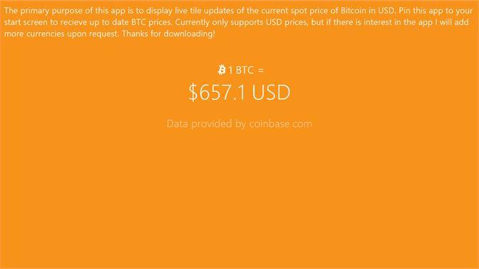 Get Bitcoin Price Live Tile - Microsoft Store