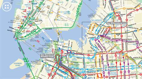 Get Transit NYC Microsoft Store - Brooklyn bus map