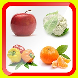 Learn Fruits & Vegetables for Kids Free