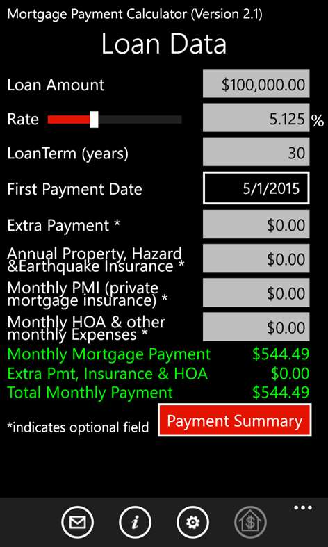 Buy Mortgage Payment Calculator Microsoft Store – Mortgage Payment Calculator