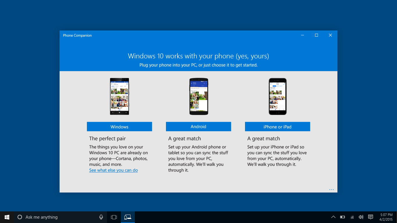 Microsoft Phone Companion