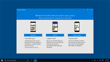 Microsoft Phone Companion Screenshots 1