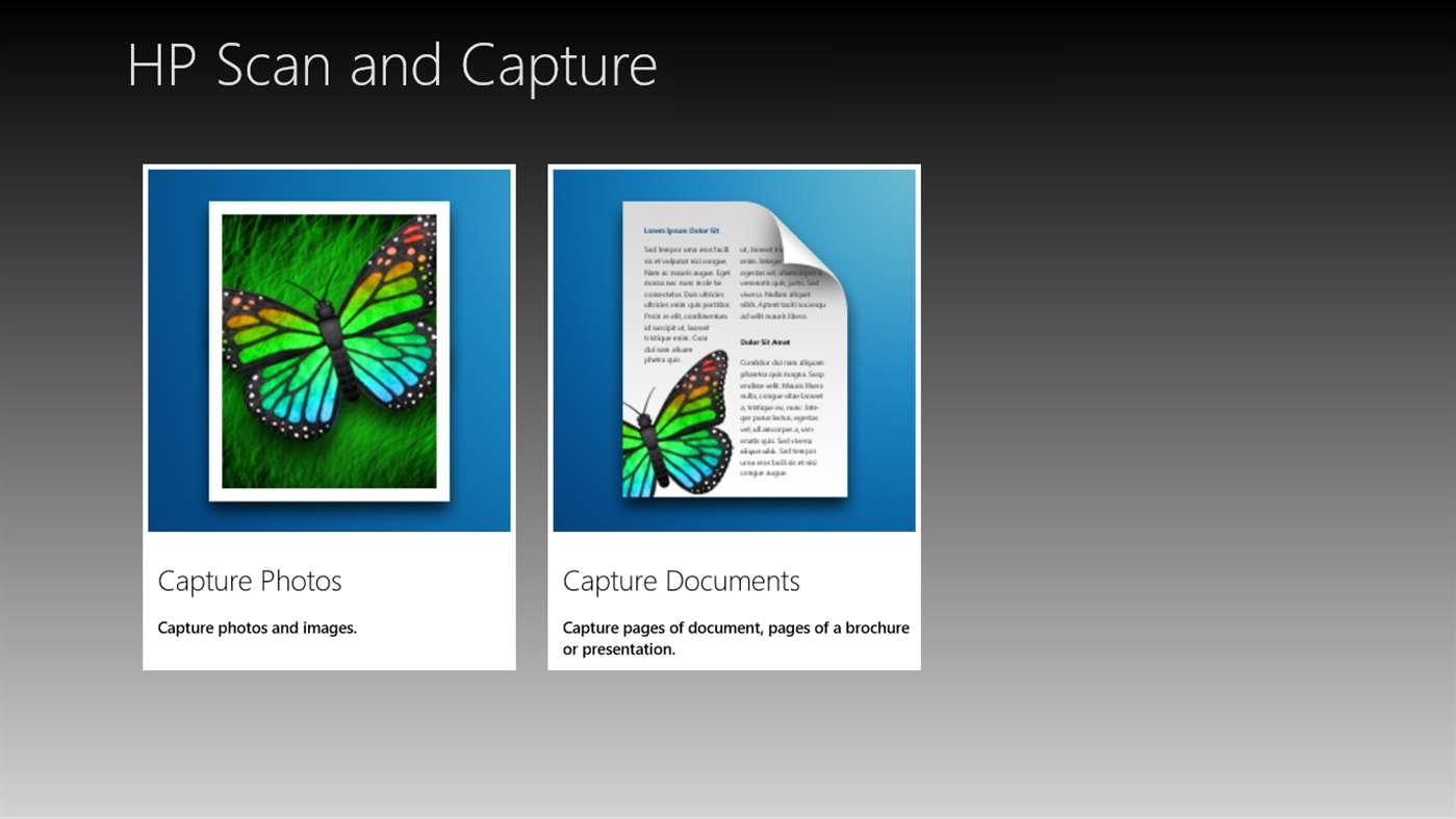 HP Scan and Capture full screenshot