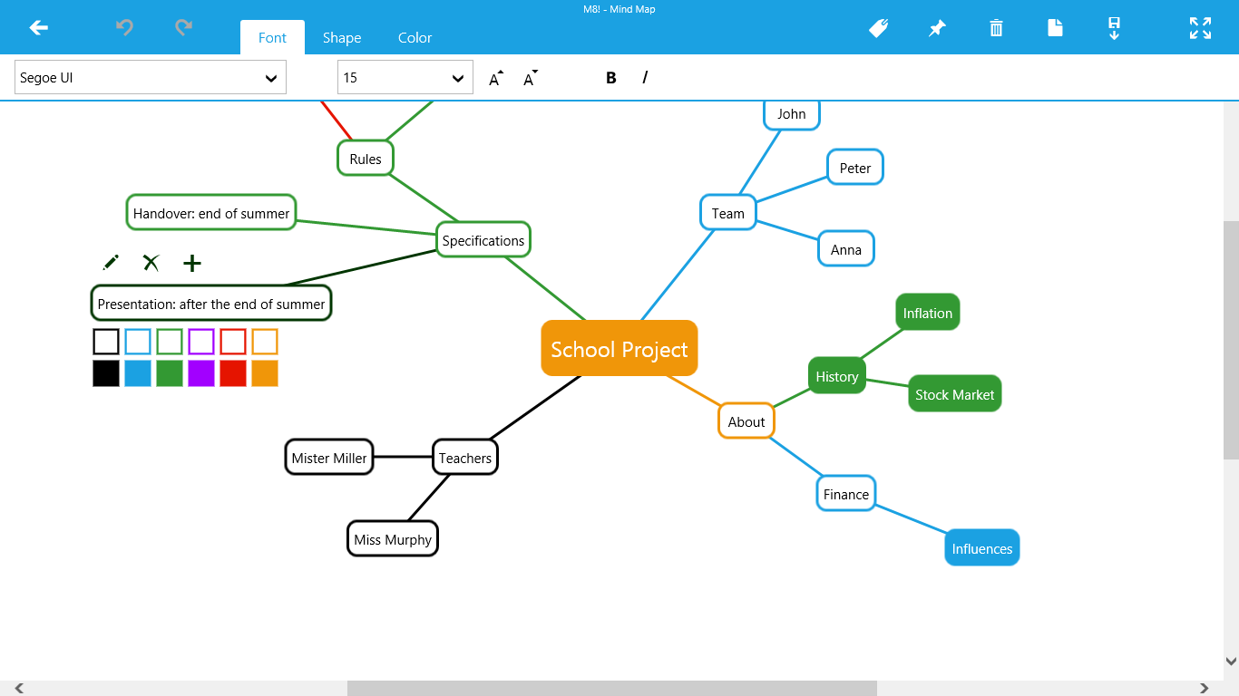 M8 Mind Map For Windows 10