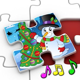 kids christmas jigsaw puzzles educational game for preschool children 3