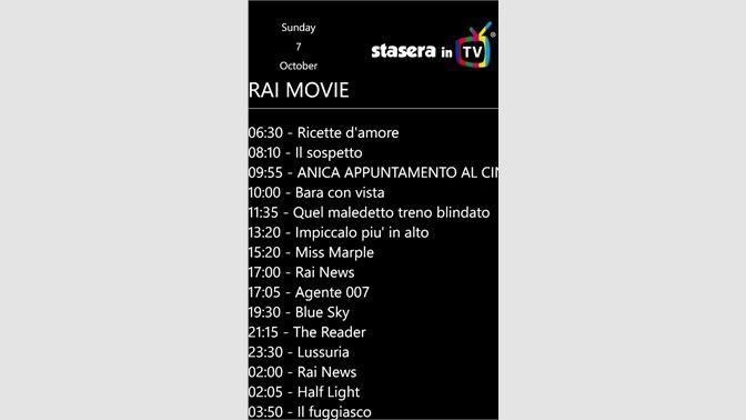Get Stasera in TV - Microsoft Store
