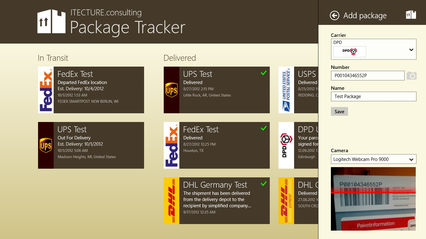 Package Tracker For Windows 10