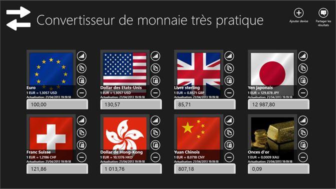 Obtenir Convertisseur De Monnaie Tres Pratique Microsoft