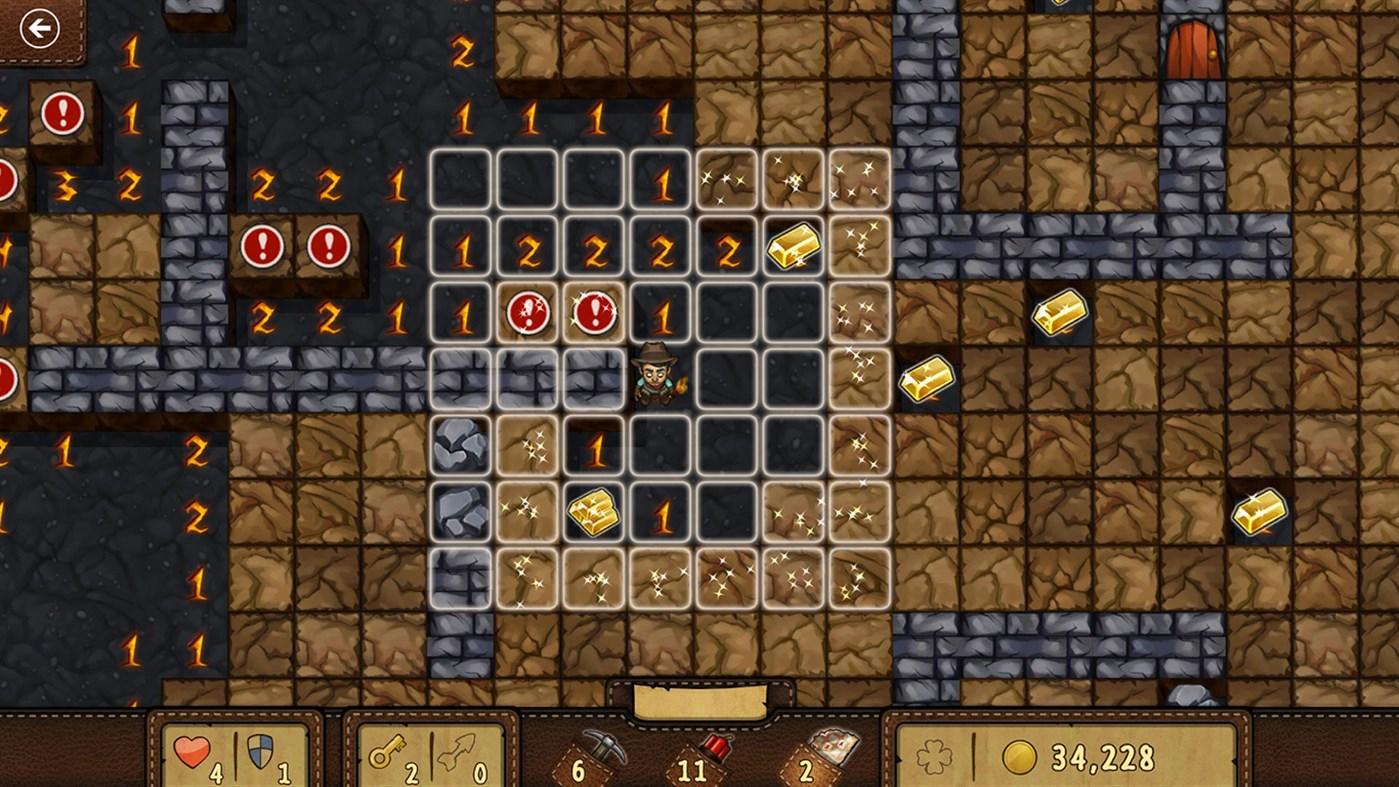 Microsoft Minesweeper for Win8 UI screenshot