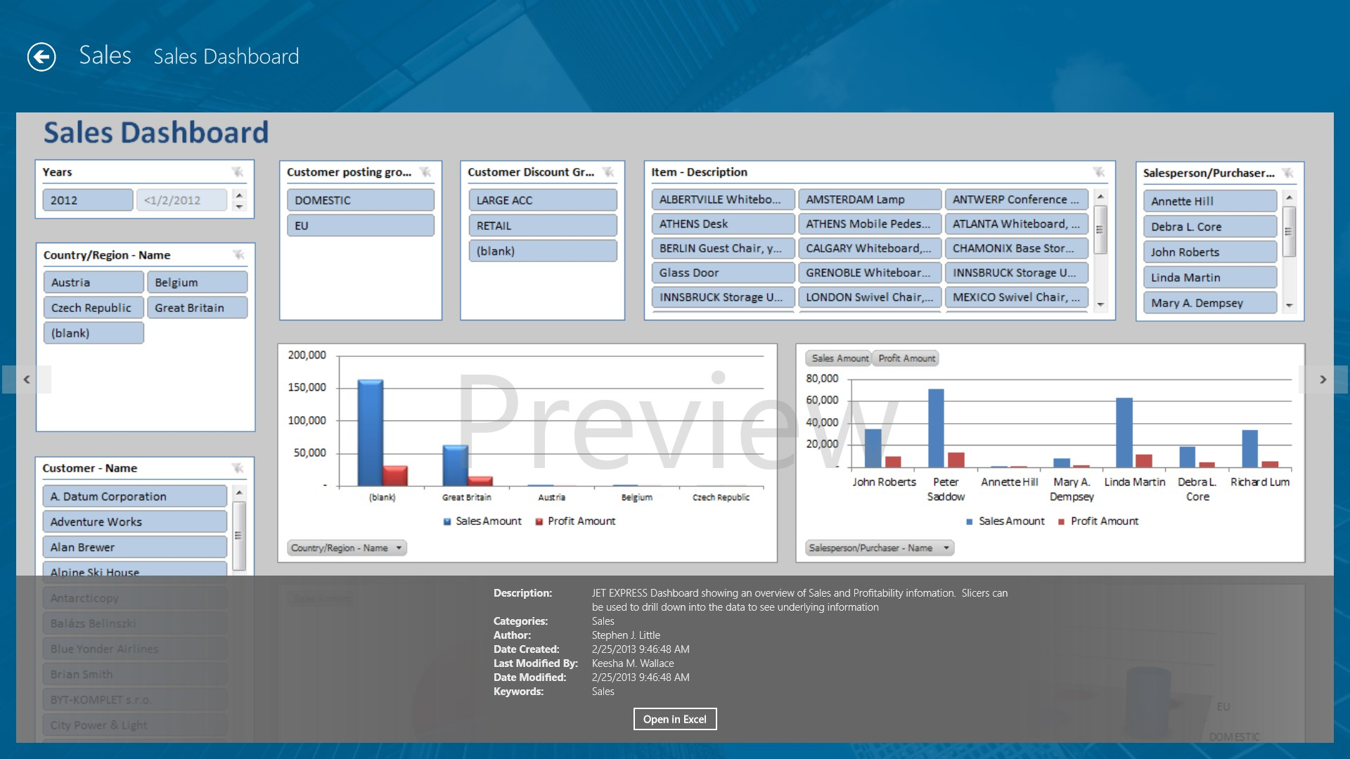 Jet Reports Player for Microsoft Dynamics® NAV for Windows 10
