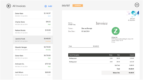 Get Zoho Invoice Microsoft Store - How to do an invoice on word online sports store