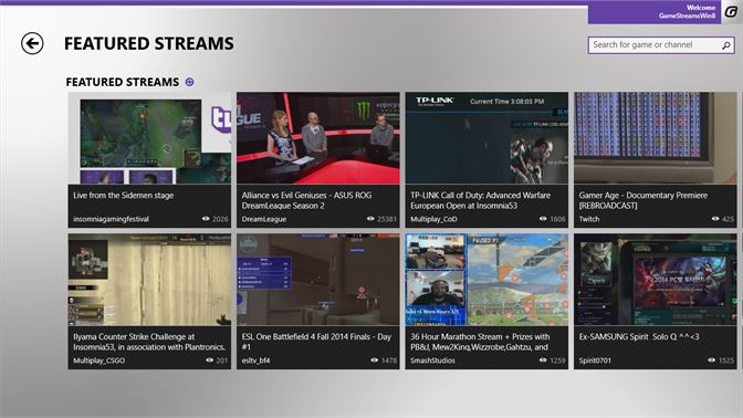 Get game streams - Microsoft Store