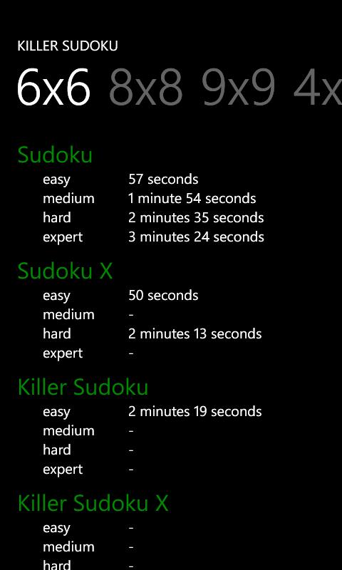 Killer Sudoku for Windows 10 Mobile