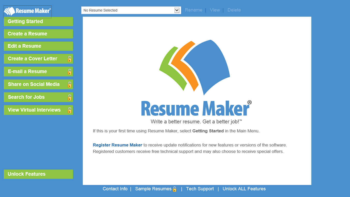 resume creator software