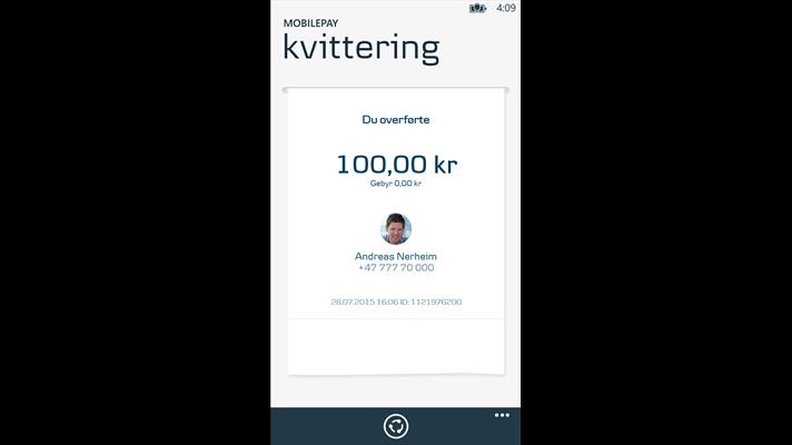 Dankse Bank's MobilePay app comes to Windows Phone in Norway - MSPoweruser