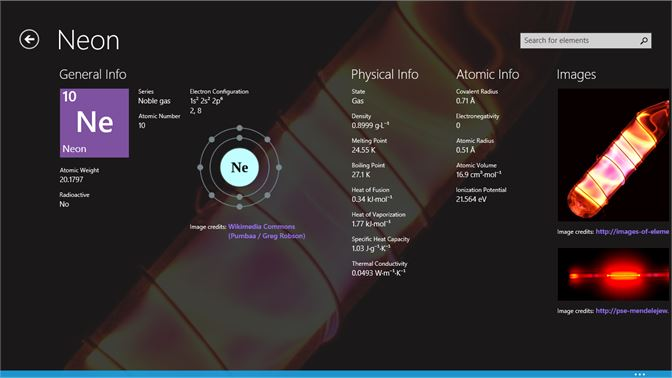 Get periodic table microsoft store screenshot element detailed information urtaz