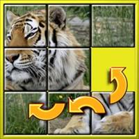 Get Kids Animal Slide Puzzle 15 - mystic squares shape