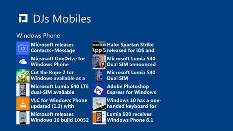 Screenshot: Windows Phone News