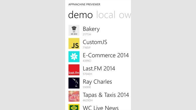Get Appmachine Previewer Microsoft Store