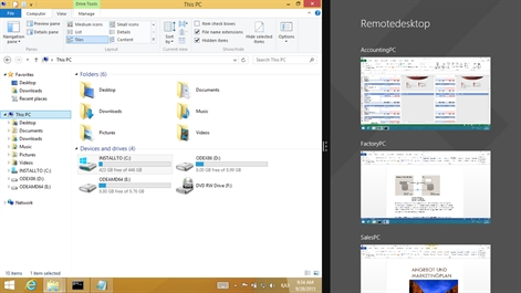 Microsoft-Remotedesktop Screenshot