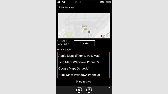 bing maps gps app android