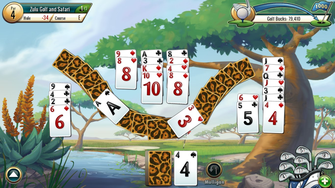 Fairway solitaire by big fish for windows 10 for Fairway solitaire big fish games